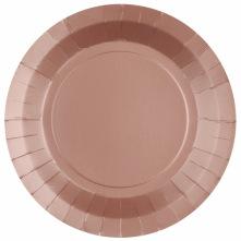 Assiettes en carton Etoile Rose Gold (x4)