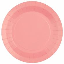 Assiettes en carton rose pastel (x6)