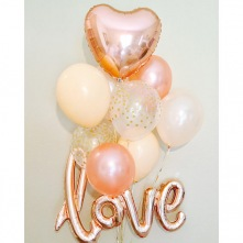Bouquet Ballon Mariage Love (x8)