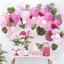 Bouquet pour Arche de 60 Ballons Rose & Blanc