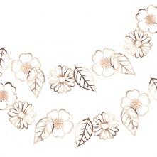 Guirlande de Fleur Rose Gold Métal