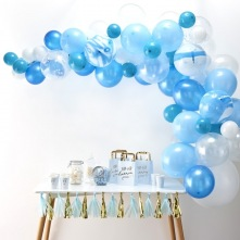 Kit Arche de 60 Ballons Baudruche Biodégradable Bleu