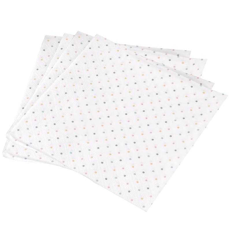 serviette 20 serviettes papier pois. Black Bedroom Furniture Sets. Home Design Ideas