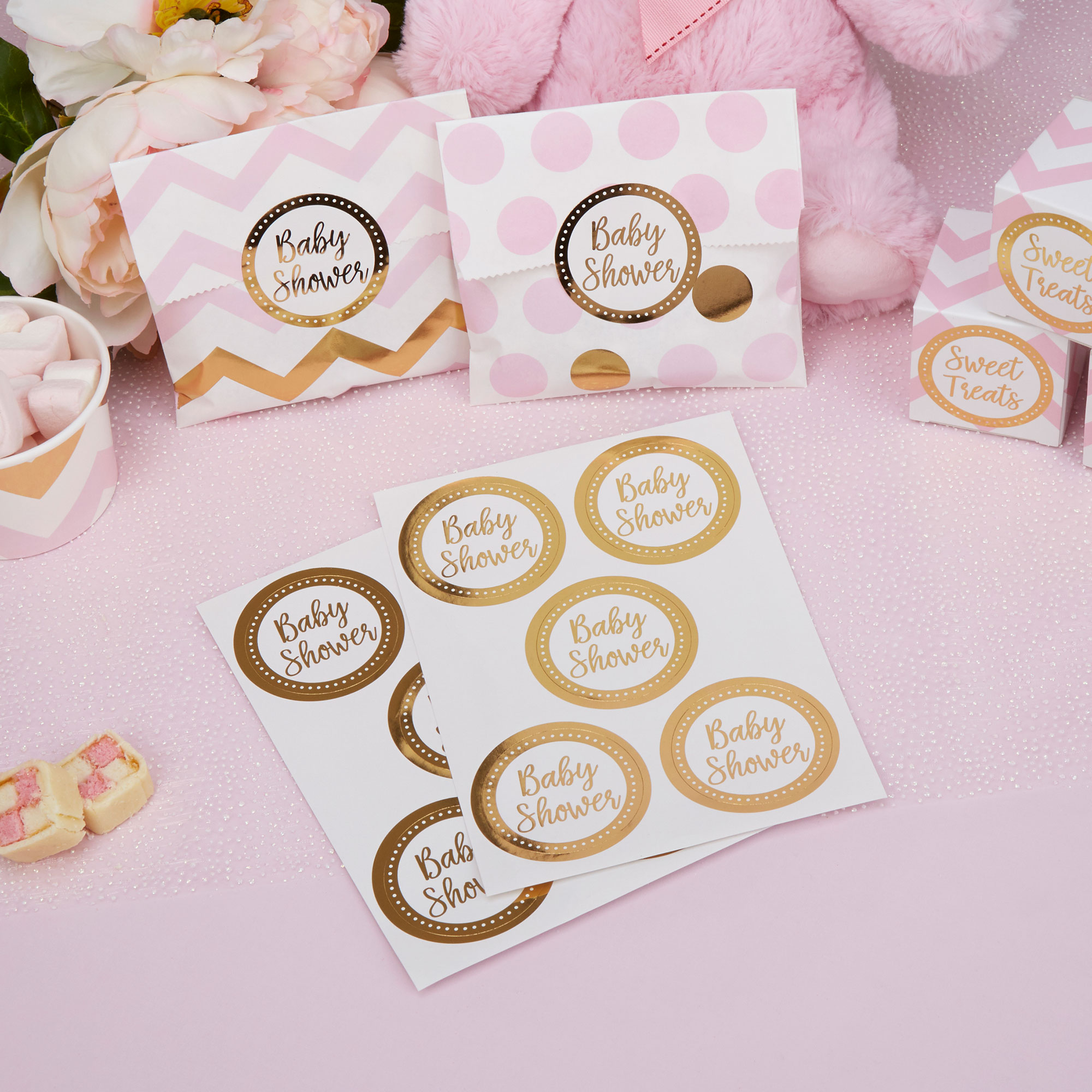 Baby Shower Cadeau Futur Maman autocollants stickers baby shower (x25)