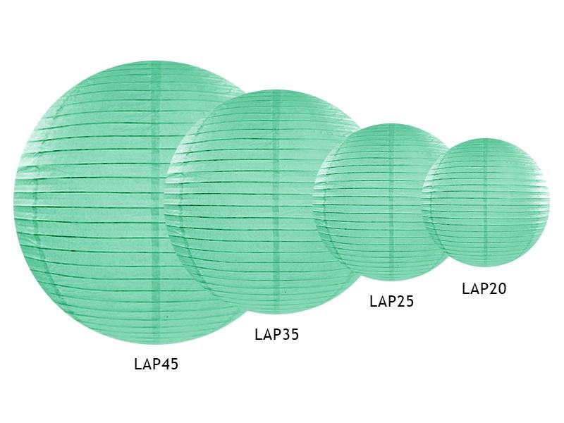 Boule japonaise papier suspendre vert d 39 eau holly party - Couleur vert d eau ...