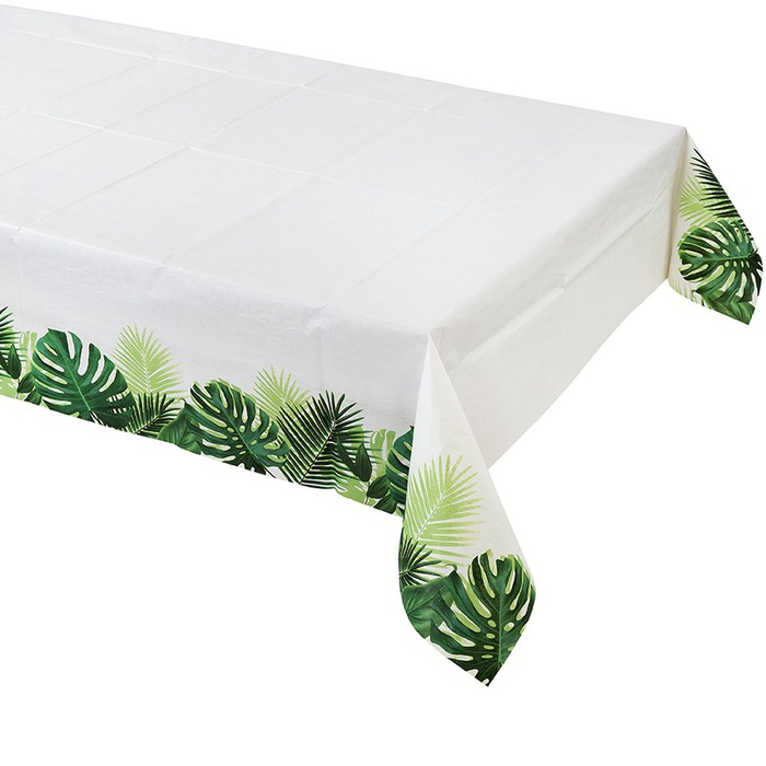 nappe papier feuillage table tropical. Black Bedroom Furniture Sets. Home Design Ideas