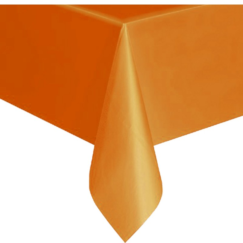 nappe en plastique rectangulaire orange holly party. Black Bedroom Furniture Sets. Home Design Ideas