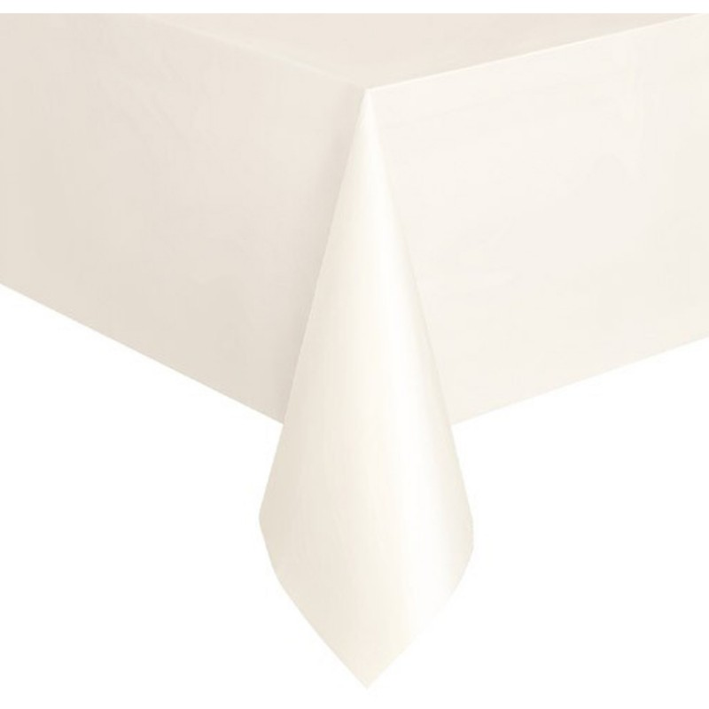 nappe nappe plastique rectangulaire blanc 137x274 cm. Black Bedroom Furniture Sets. Home Design Ideas