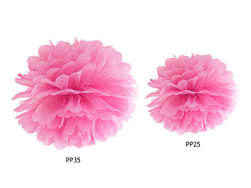 pompon fleur papier en soie suspendre rose holly party. Black Bedroom Furniture Sets. Home Design Ideas