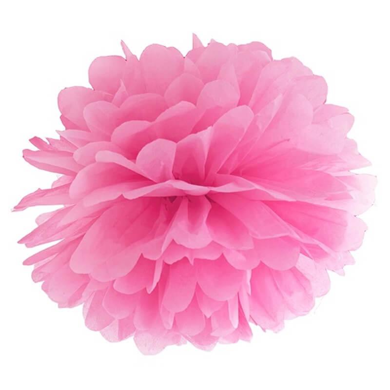 Pompon Fleur Papier En Soie A Suspendre Rose Holly Party