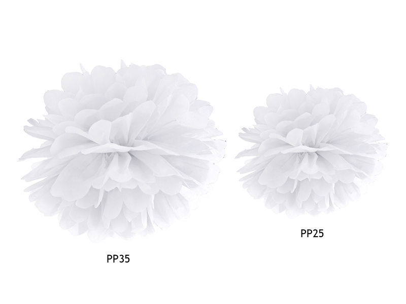 pompons fleur papier en soie suspendre blanc. Black Bedroom Furniture Sets. Home Design Ideas