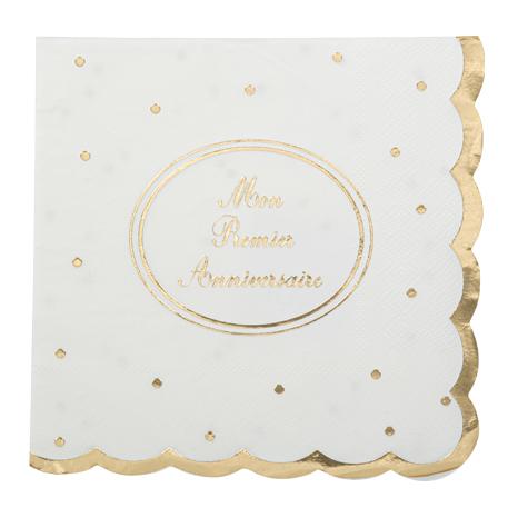 serviettes en papier etoile or m tallis x16 holly party. Black Bedroom Furniture Sets. Home Design Ideas