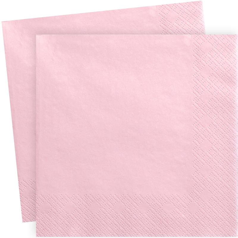 serviettes en papier rose uni x20. Black Bedroom Furniture Sets. Home Design Ideas