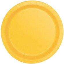 Assiettes en carton Jaune uni (x8)