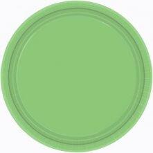 Assiettes en carton Vert uni (x8)