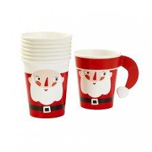 Gobelets en carton Père Noel (x8)