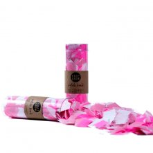 Tube Confettis de table Carr� Rose